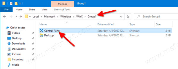 Re Arrange Win+X Entries In Windows 10