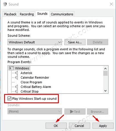 How to Enable and Change Startup Sound in Windows 10