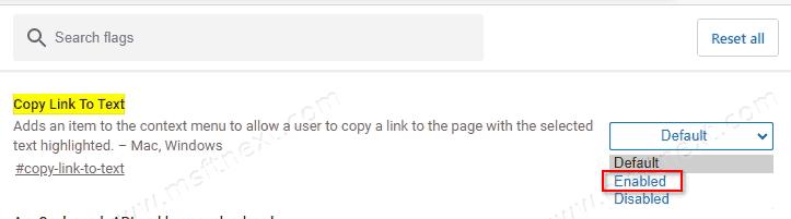 Microsoft Edge Copy Link To Text Flag