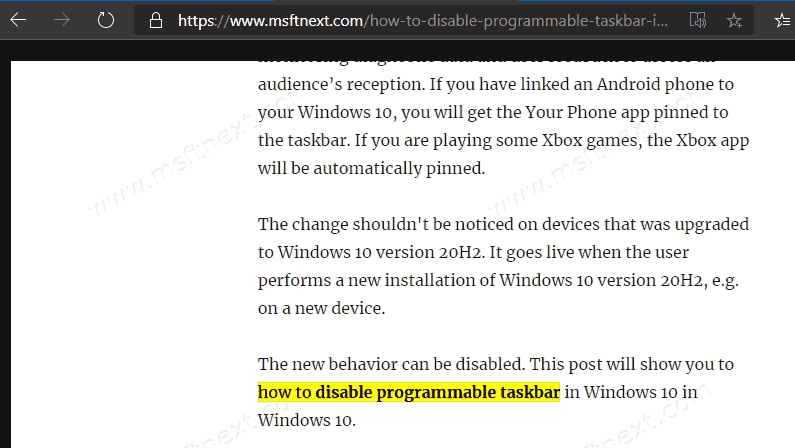 Microsoft Edge Copy Link To Text Open Page