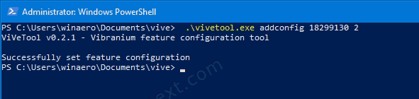 Undo the change using ViveTool