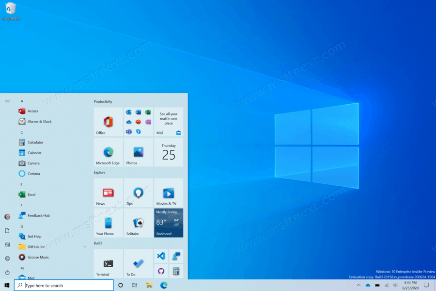 Hide Recently Added Apps from Start menu in Windows 10