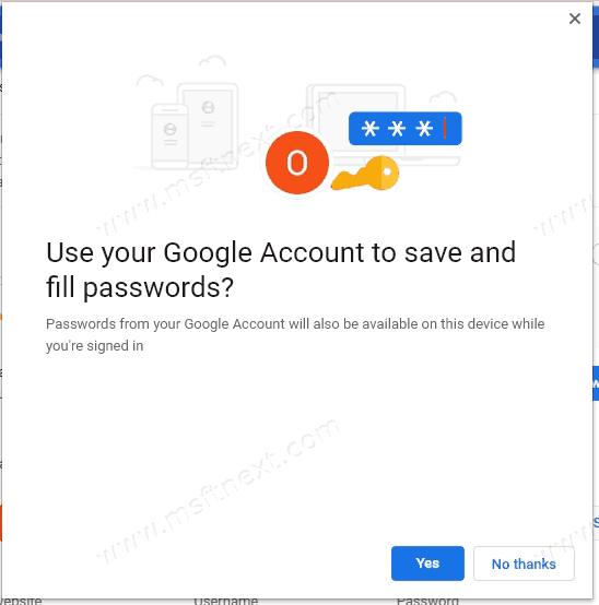 Save Site Passwords to Google Account with Sync disabled in Chrome
