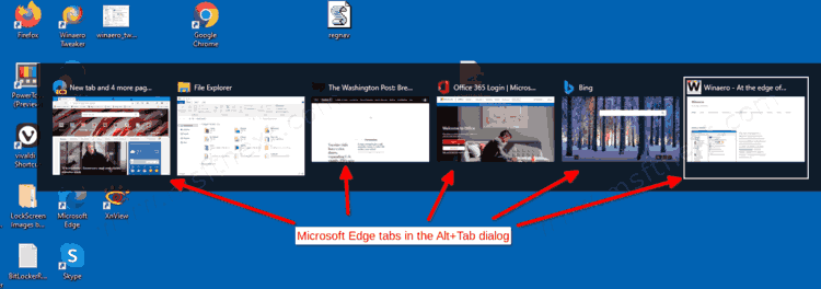 Remove Edge Tabs from Alt+Tab in Windows 10