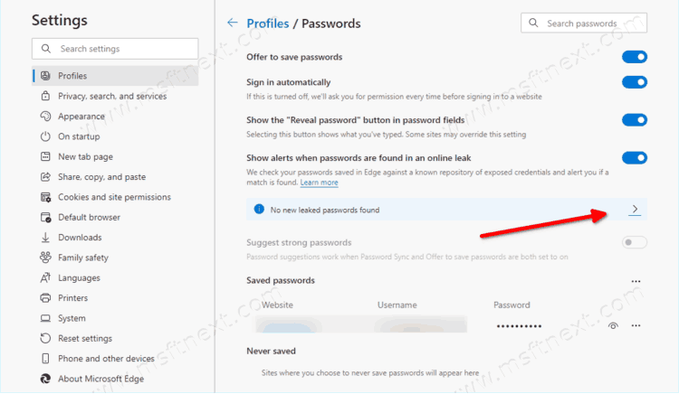 Manually Scan For Compromised Passwords In Microsoft Edge