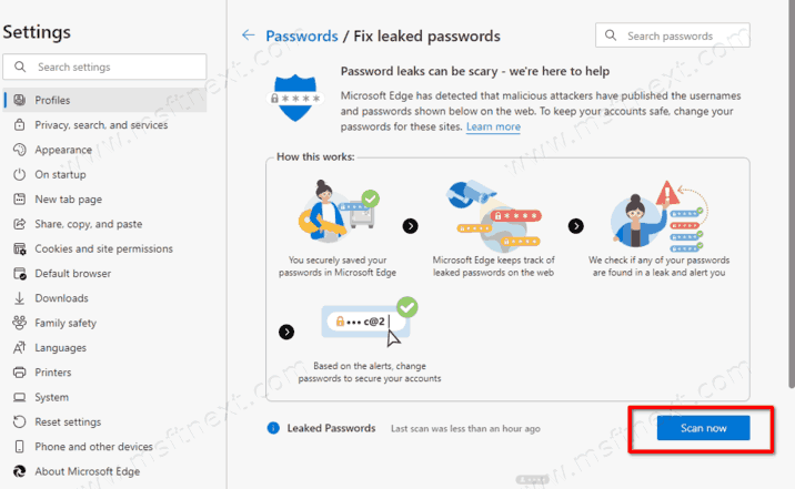 Scan For Leaked Passwords