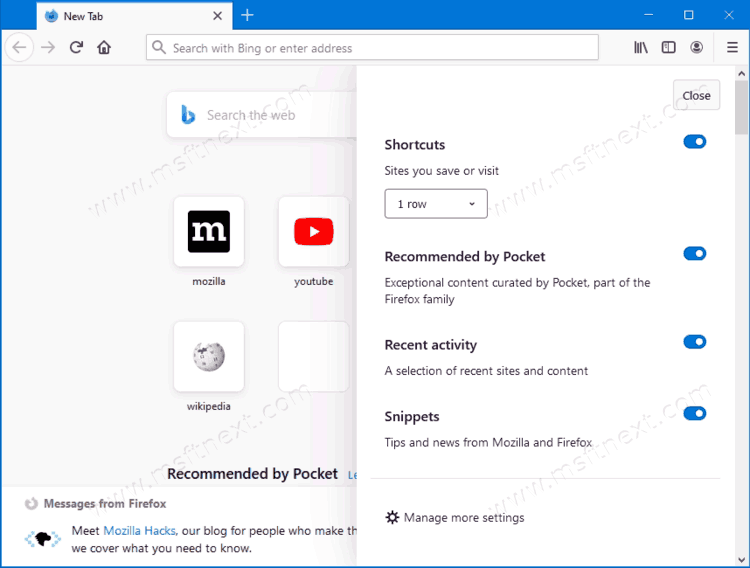 How to Enable Proton New Tab Page In Firefox