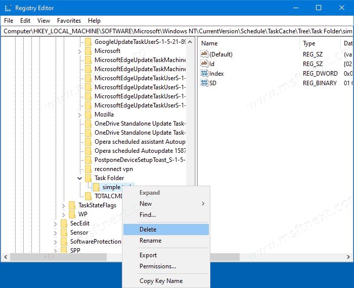 Windows 10 Remove Task In Registry 2