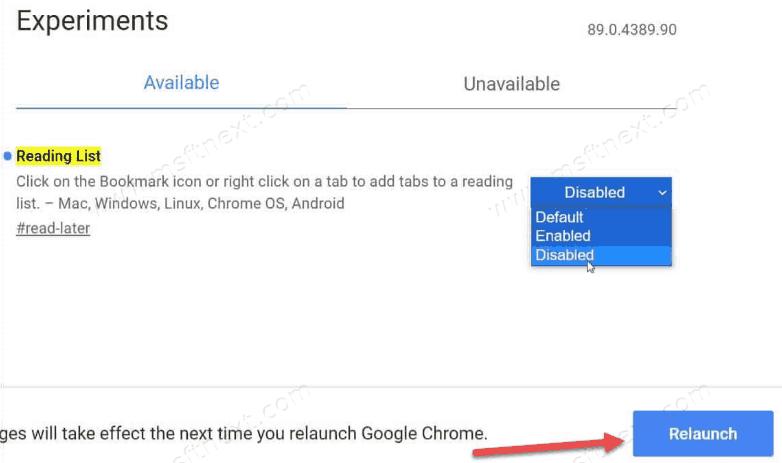 Chrome Disable Reading List