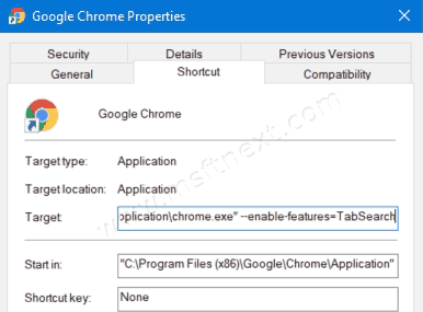 Enable Features Tab Search Google Chrome