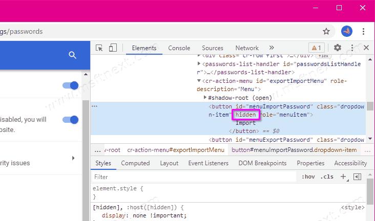 Chrome Enable Import Passwords 2