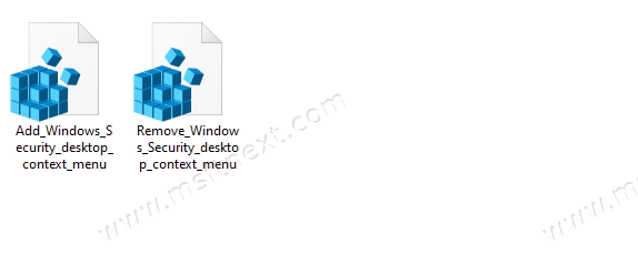 How to add Windows Security to the Windows 10 context menu
