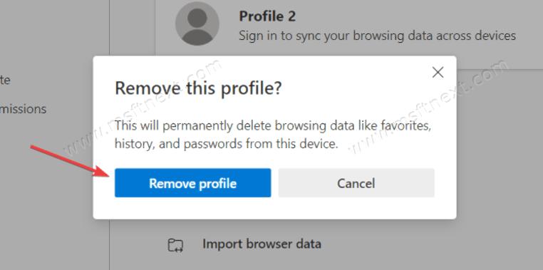 How to delete a profile in Microsoft Edge