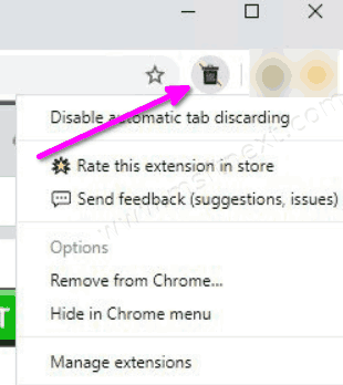 Disable Automatic Tab Discarding Extension