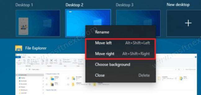 Change Virtual Desktop Order With Shortcuts