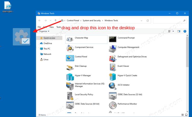Create Windows Tools Folder Shortcut In Windows 10