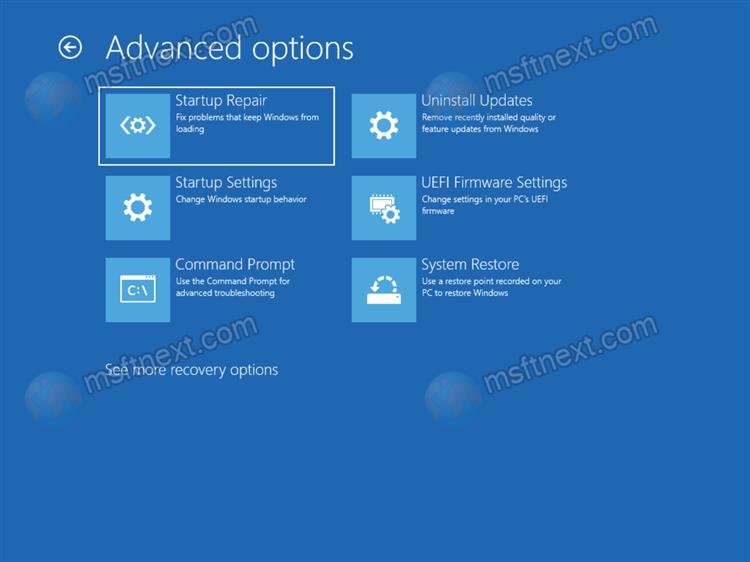 Windows 11 Open Advanced Startup Options