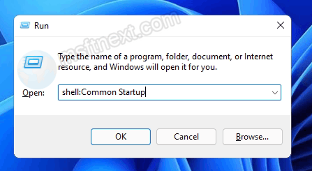 Windows 11 open startup folder for all users