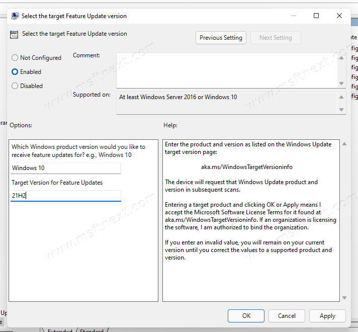 Block Windows 11 From Within 21h2