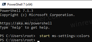 From Powershell