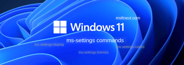 ms-settings Commands In Windows 11