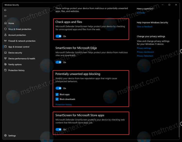 Disable Windows SmartScreen on Windows 11