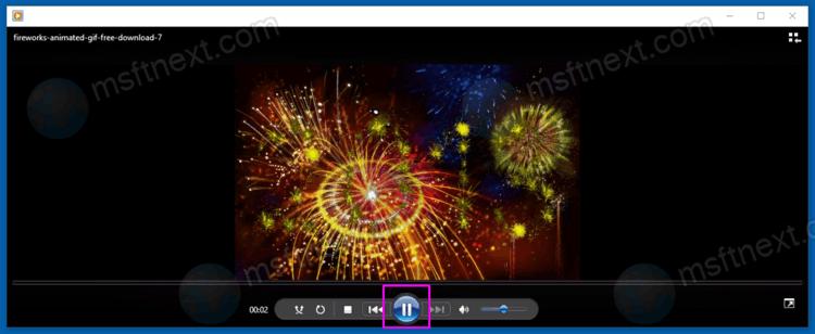 Pause GIF Animation On Windows 10