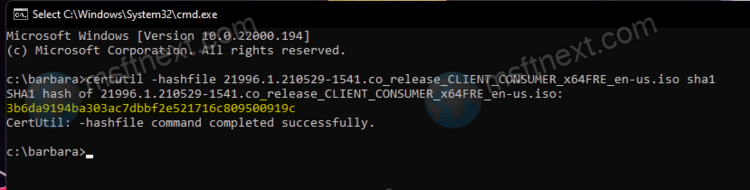 Verify Checksum For Windows ISO