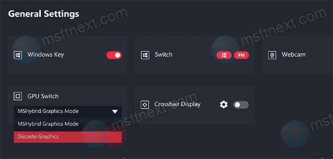 Mshybrid Discrete Graphics